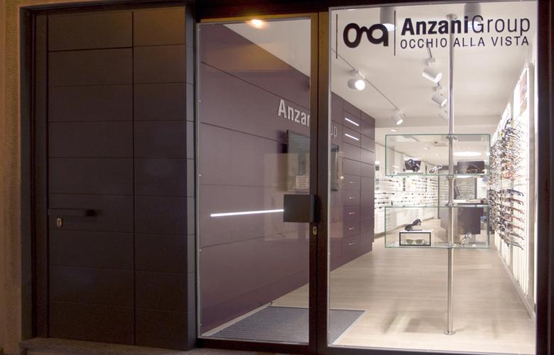 arredamento negozio ottica ANZANI GROUP COMO
