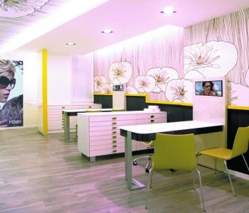 Lavori arredamenti negozi ottica edi design cant for Negozi arredamento cantu