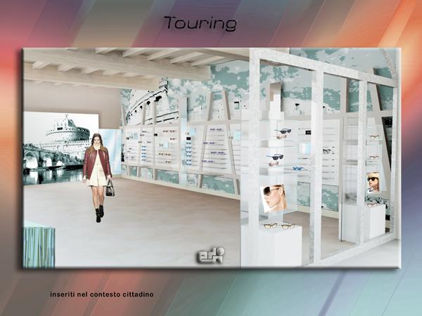 arredamento negozio ottica atmosfere touring