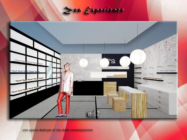 arredamento negozio ottica atmosfere stile zen experience